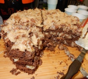 Teff German Chocolate Cake